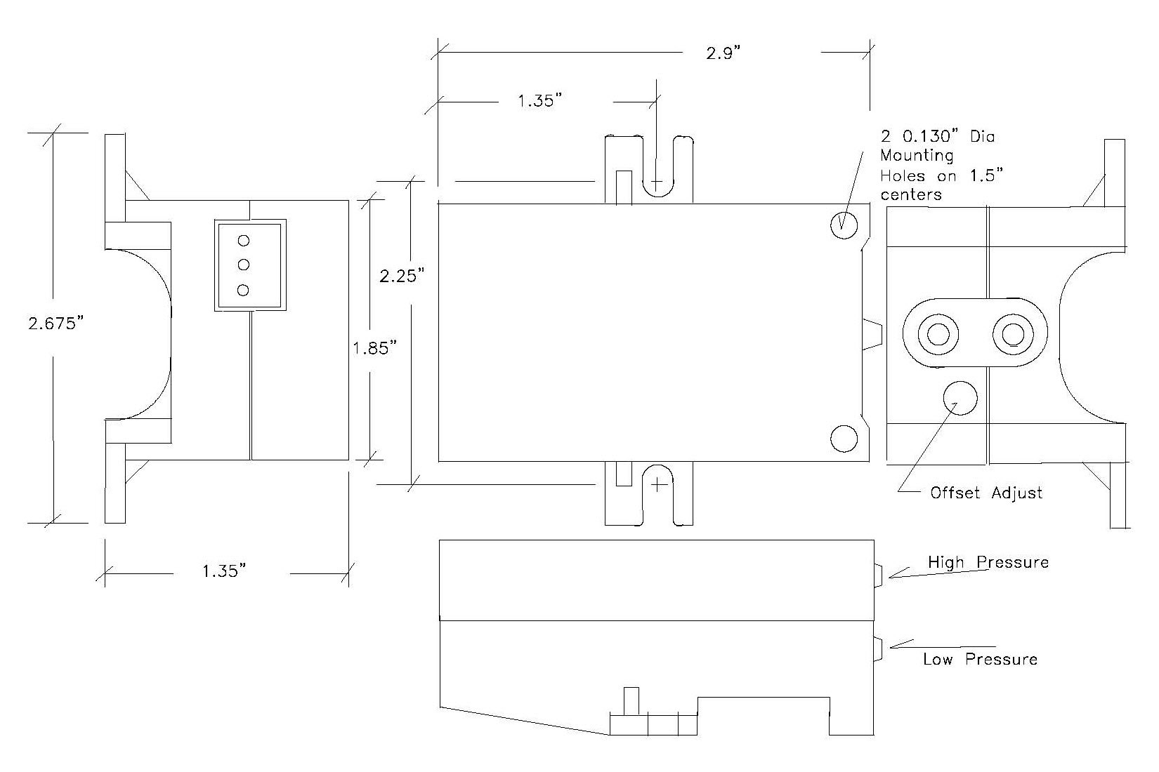 Series 860 Pressure Transducer - Controller Sensors